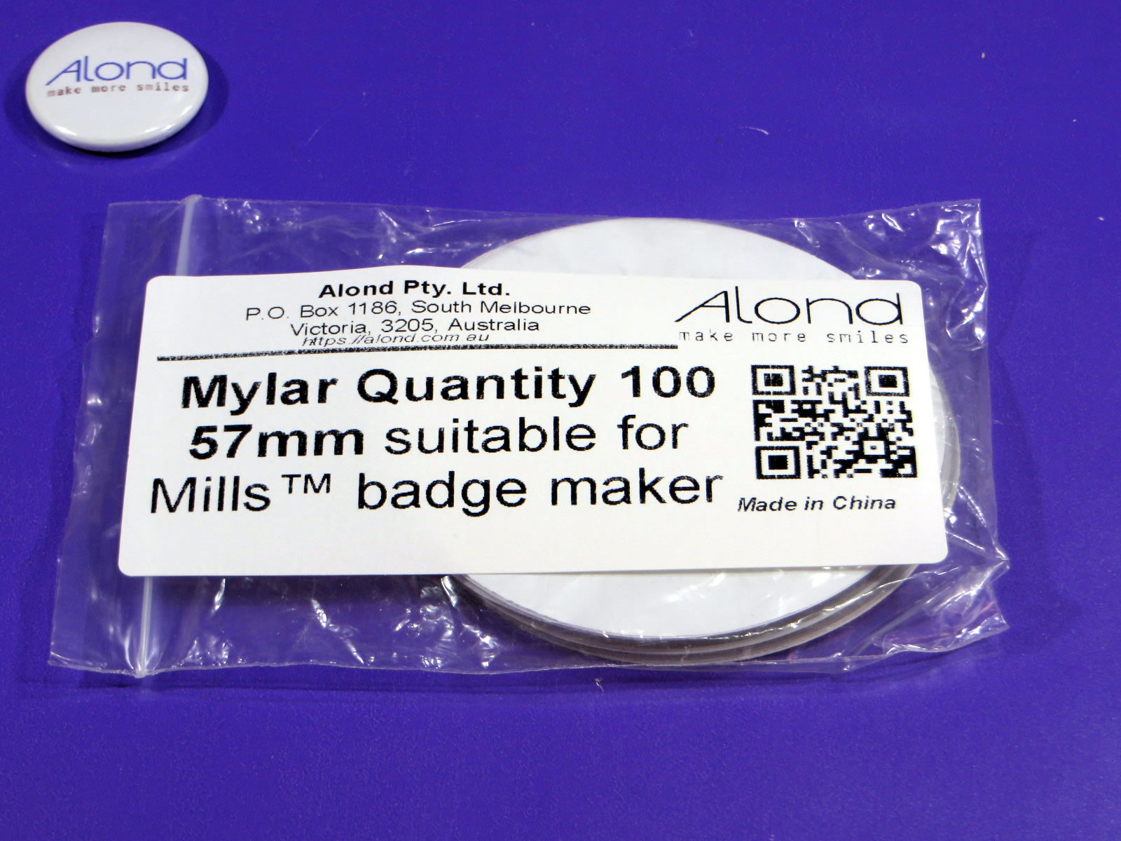 Mills™ 57mm compatible Mylar pack of 100