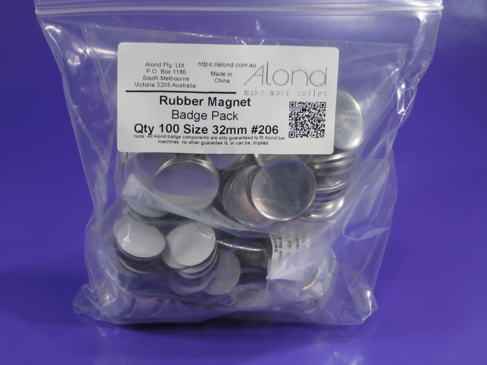 32mm Rubber magnet pack size