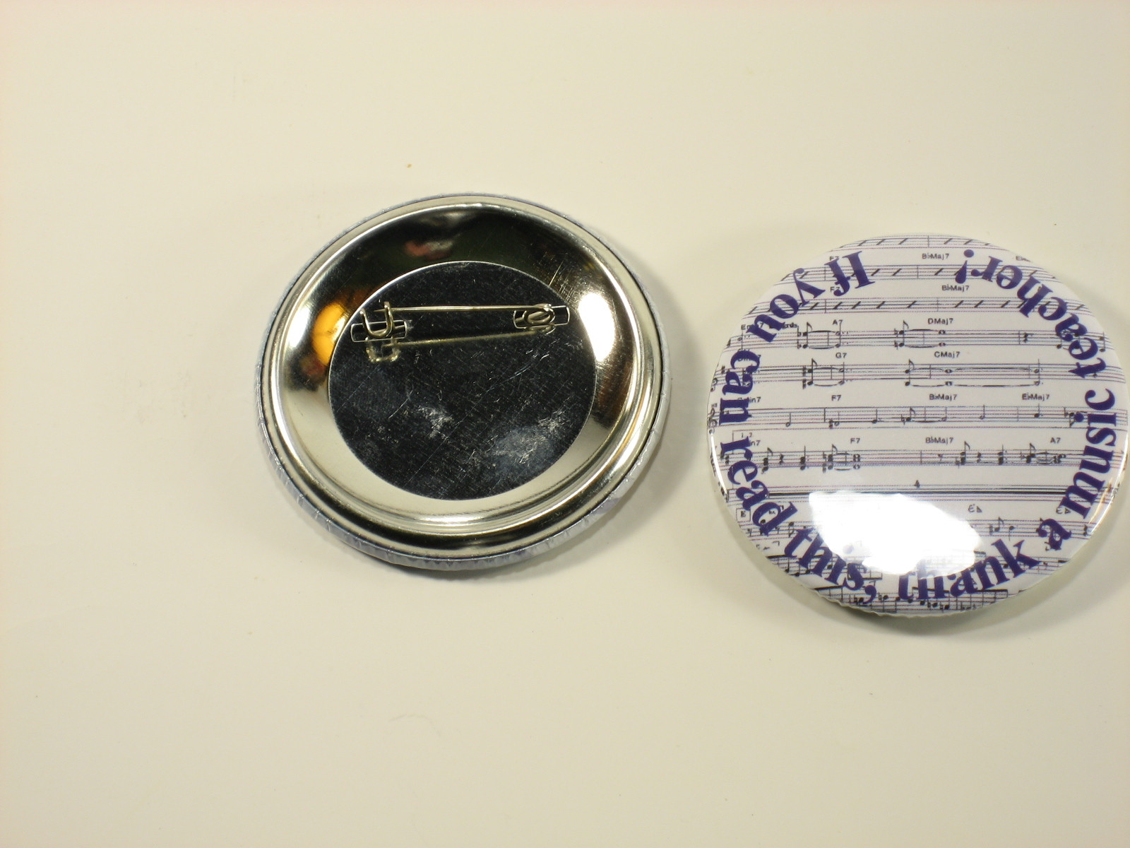 37 mm badge, If you can read this, thank a music teacher!