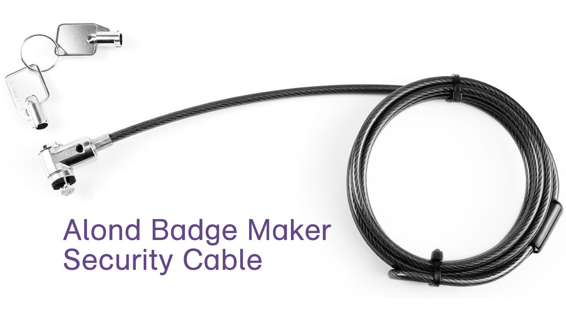 alond badge maker security cable with two keys