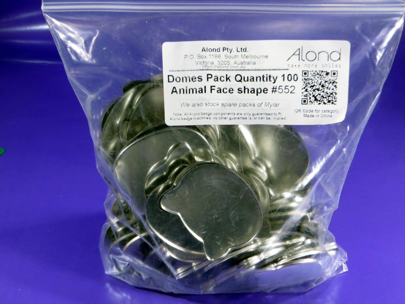 animal face domes (shells) spares for Alond badge makers