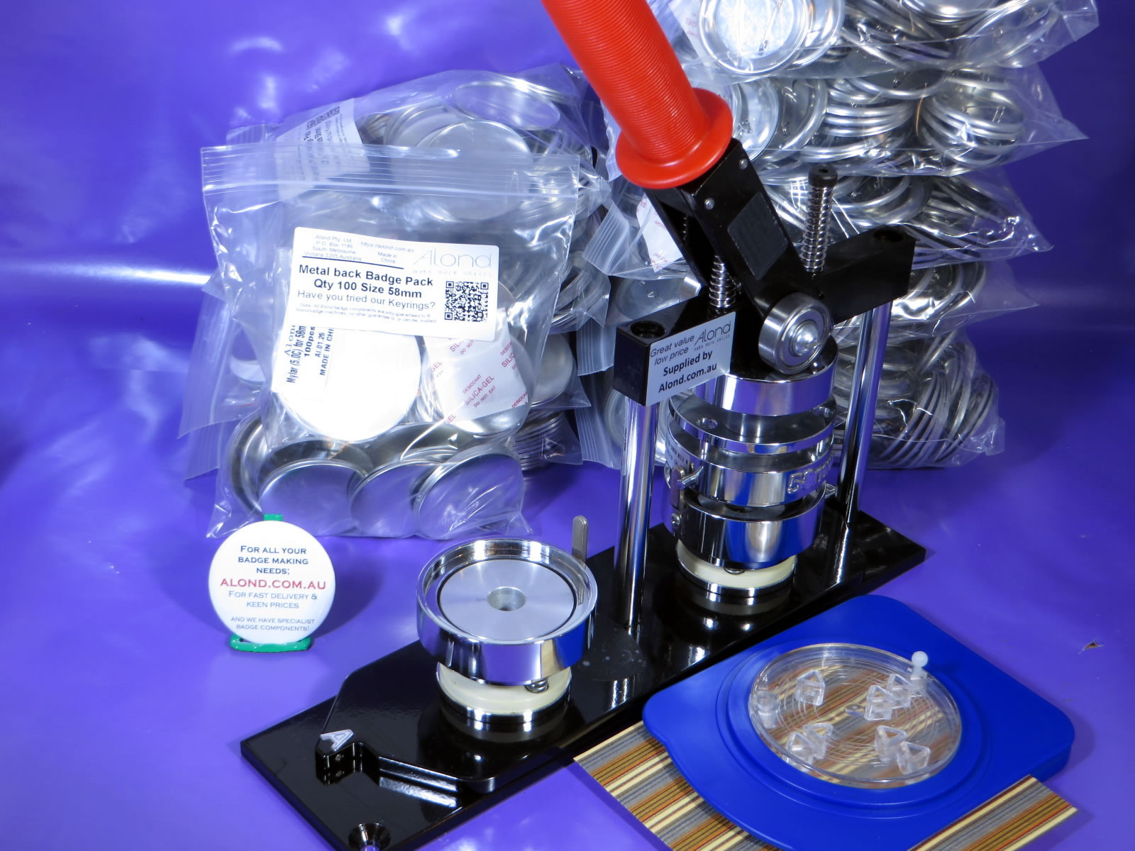 MakerSpace Badge Making Complete solution Kit in 58mm