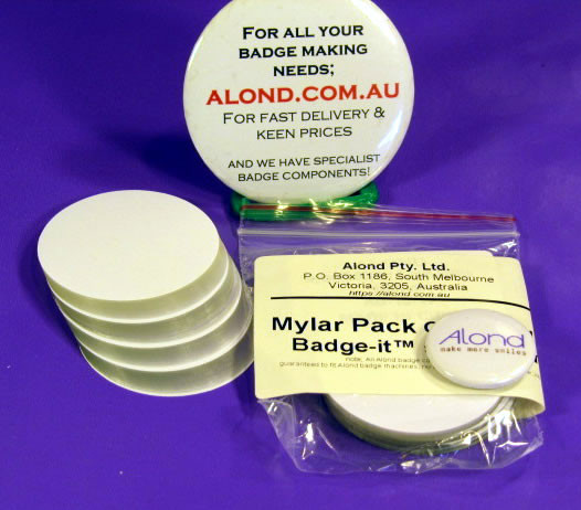 Badge It™ 30mm badge Mylar *extras* (pack of 100)