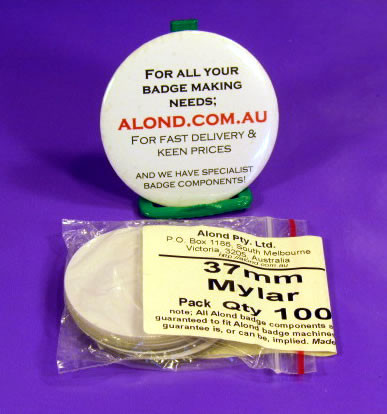 Mylar spare pack of 100 for badge making