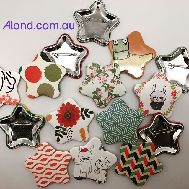 Star Shape with five points pin badge Alond.com.au