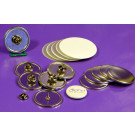 100 X MEDIUM BUTTON SIZE BUTTERFLY CLIP BUTTON REFILL WE R MEMORY KEEPERS™ BUTTON COMPATIBLE