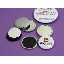 Rubber magnet badge, ideal if you are looking for a budget magnet badge