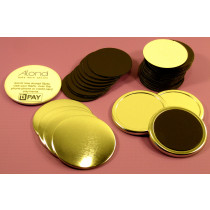 Rubber magnet fridge magnet badge, ideal if you looking for a budget magnet badge
