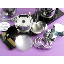 showing a 58 mm mirror badge kit