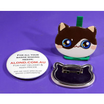 This badge can also be the right shape for a Shiba Inu, Olinguito, Civet, Fossa, Lemur, bear cubs, (some) monkeys, owls and many more.
