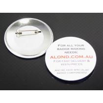 Badge-a-minit™ compatible 57mm badge, these also fit the Mills badge maker