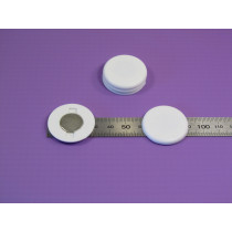 Used on the inside of a clothing item this magnetic clip works well with our magnet badges