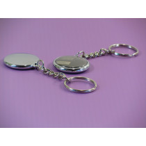 Elegant simple and stylish, our badge 25 mm key ring
