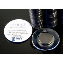 Magnet and adhesive disk to convert pin badges to magnet badges