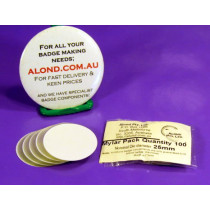 Mylar, 25mm for Alond badge making, spare pack of 100