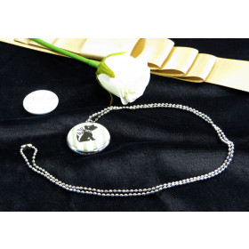 25mm Single Side necklace badge and chain with chrome body  (pack of 25)