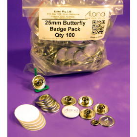 25mm Badge Butterfly Military Clutch Pin Back makes 100 badges