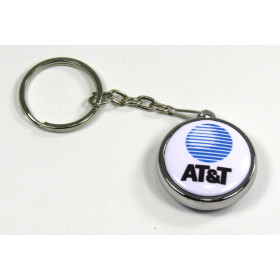 25mm Double Side keyring badge with chrome body  (pack of 50)