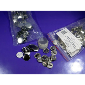 100 x Small Button size REFILL pin badge We R Memory Keepers™ Small button Press compatible