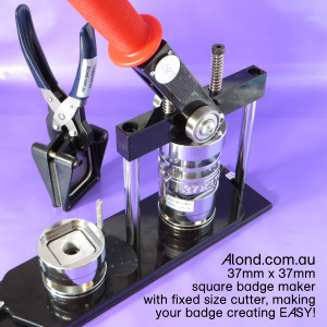 square shape button maker with cutter