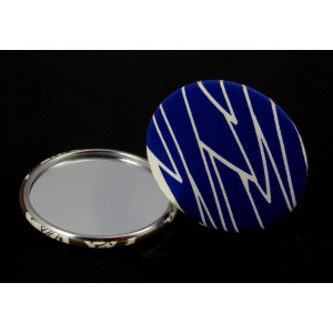 Mirror badge cloth covered