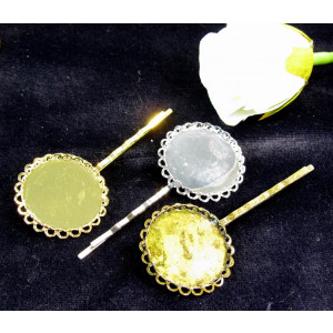 Hair grip jewelry show without Alond 25 mm inserts