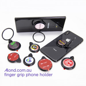 Phone finger grip badge 25mm (pack of 25) Make this with your badge-maker