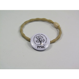 Show off your artwork with this 25 mm badge hair tie