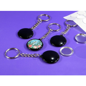 We R Memory Keepers™ Compatible small size Black Keyring Badge