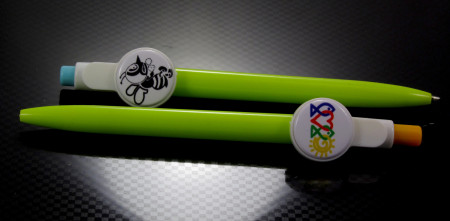 Pen with 25mm badge insert (pack of 25)