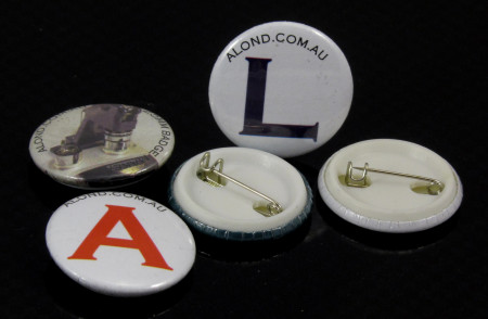 25mm plastic back badge kit, all you need to make 100 badges