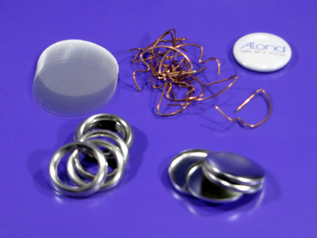 25mm D-pin badge parts compatible with Australian Badge-a-Minit™ machines, makes 100 badges