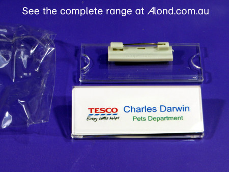 75  x 30mm Pin Clasp Name Badge pack (makes 25 badges)